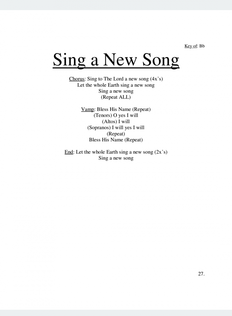 Sing A New Song Lyrics